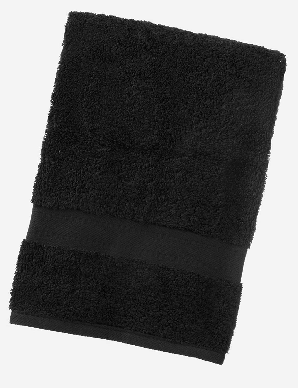 TowelsRus Egipcio 100%Algodón súper suave 550 Gsm Toalla de baño en Negro 70cmx 130cm