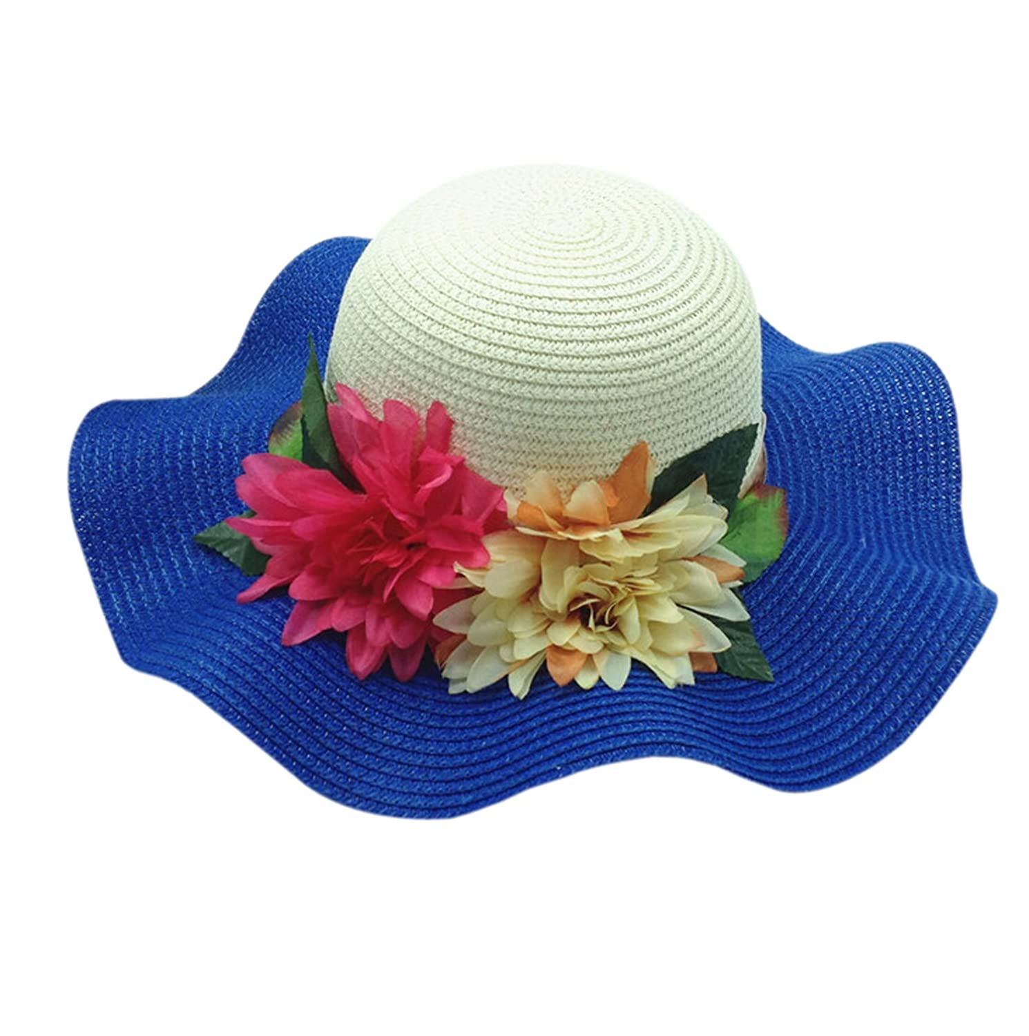 Easting Women Mixed-color Straw Hat