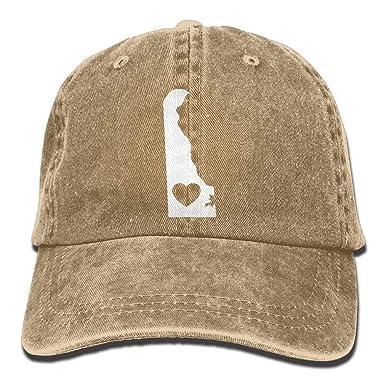 angwenkuanku Baseball Cap Delaware Heart-2 Men Snapback Casquettes ...
