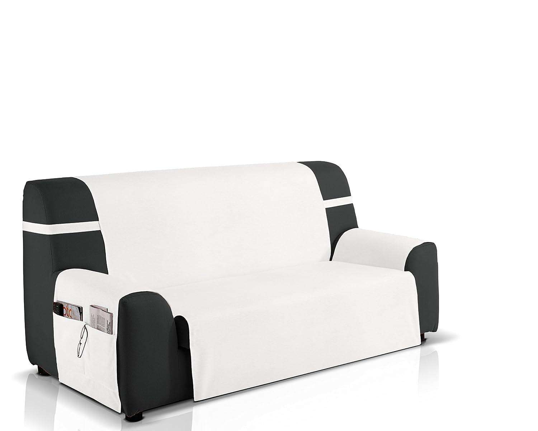 JM Textil Funda protección sofá 2 plazas Color Blanco Marfil ...