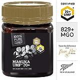 100% Pure New Zealand Manuka Honey - UMF 20+ Certified (MGO 829+) - (250g)