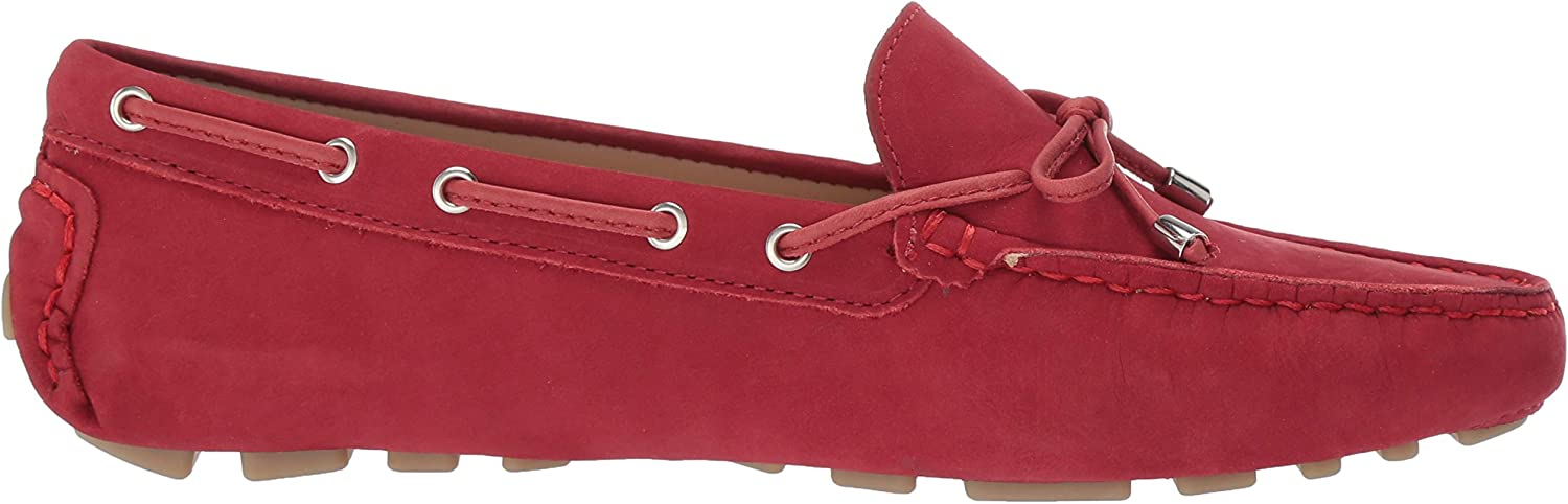 Driver Club USA Womens Leather Nantucket Tie-Bow Loafer Driving Style