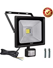 CLY 30W Security Lights, LED Floodlight with Motion Sensor, 75W HPS Lights Equivalent Replaced, Daylight White 2700 Lumen IP66 Waterproof Security Light,Outdoor Flood Lights Sensor Light