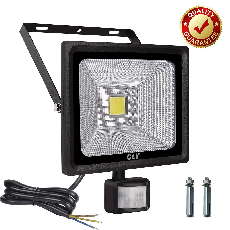 LED Strahler mit Bewegungsmelder CLY 10W LED Scheinwerfer mit Bewegungsmelder Fluter Bewegungsmelder Aussen IP66 Wasserdicht 900LM 6000K Tageslichtweiß Außenstrahler für Garage 100% Geprüft(MEHRWEG)