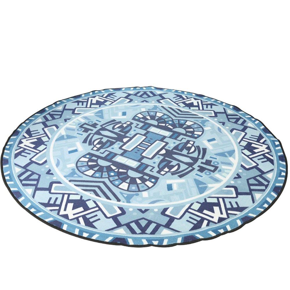 Round carpet / printing simple mat / water washable round mat / rocking chair mats children crawling mats ( Size : Diameter 150cm )