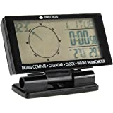Auto Digital Electronic Compass With Clock Thermometer In/Out Travel Guiding Car Calendar