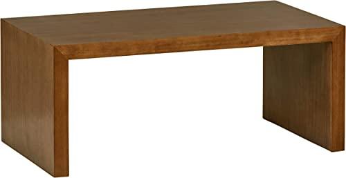 Amazon Brand Rivet Modern Coffee Table, 39.37 W, Pine Veneer and Natural Wood