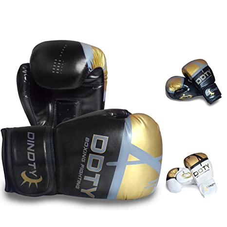 ZTTY Black Boxing Gloves Sparring Punching Bag Training MMA Muay Thai Kickboxing Adult Punching Fight Glove for men /& women