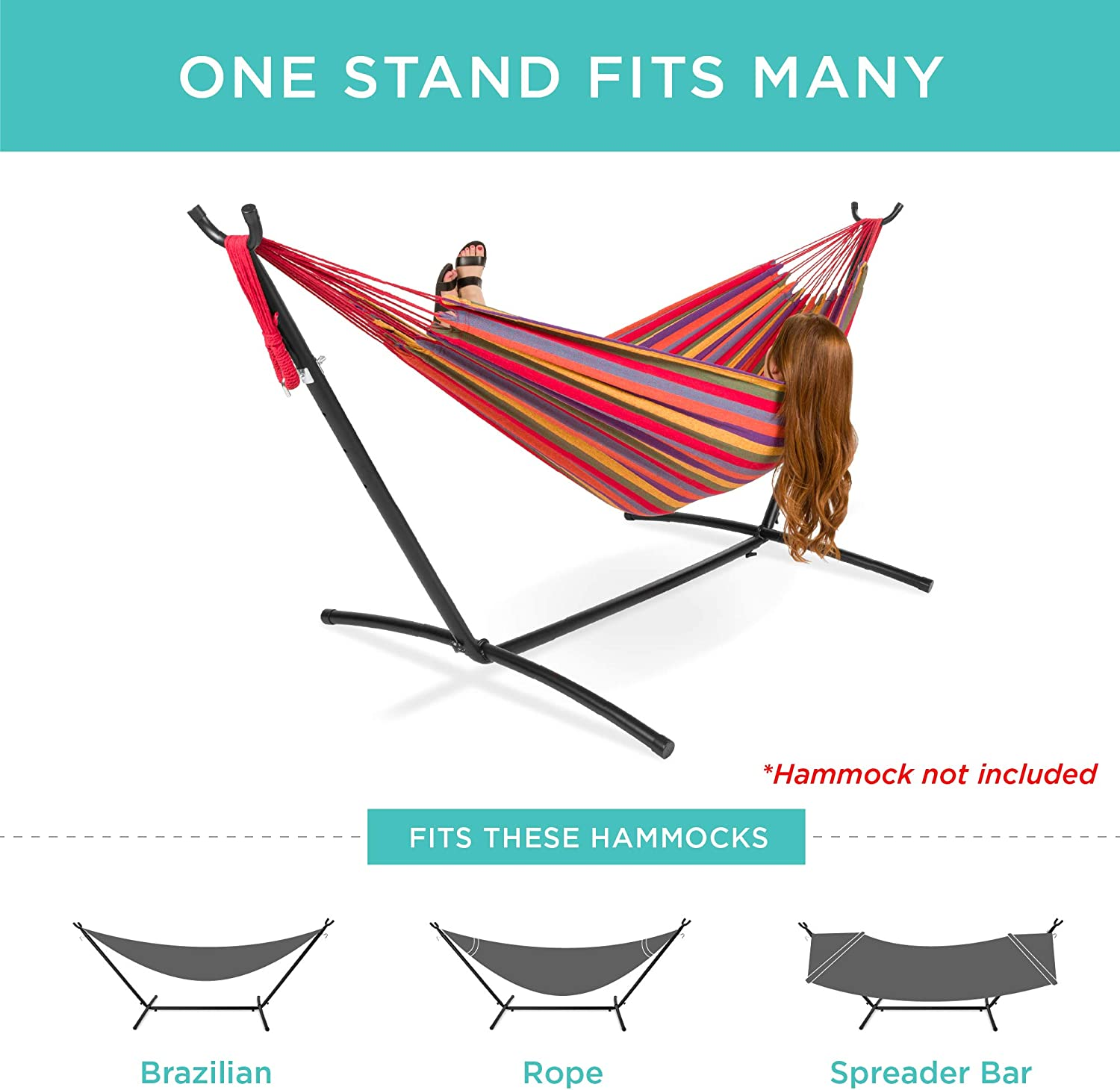 Best Choice Products 9' Steel Hammock Stand with Carrying Case
