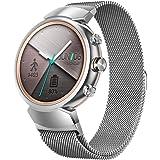 Vicara Asus ZenWatch 3band, milanese loop cinturino dell' orologio in acciaio INOX Quick Release replacement Wristband da uomo e da donna per Asus Watch Band 14mm