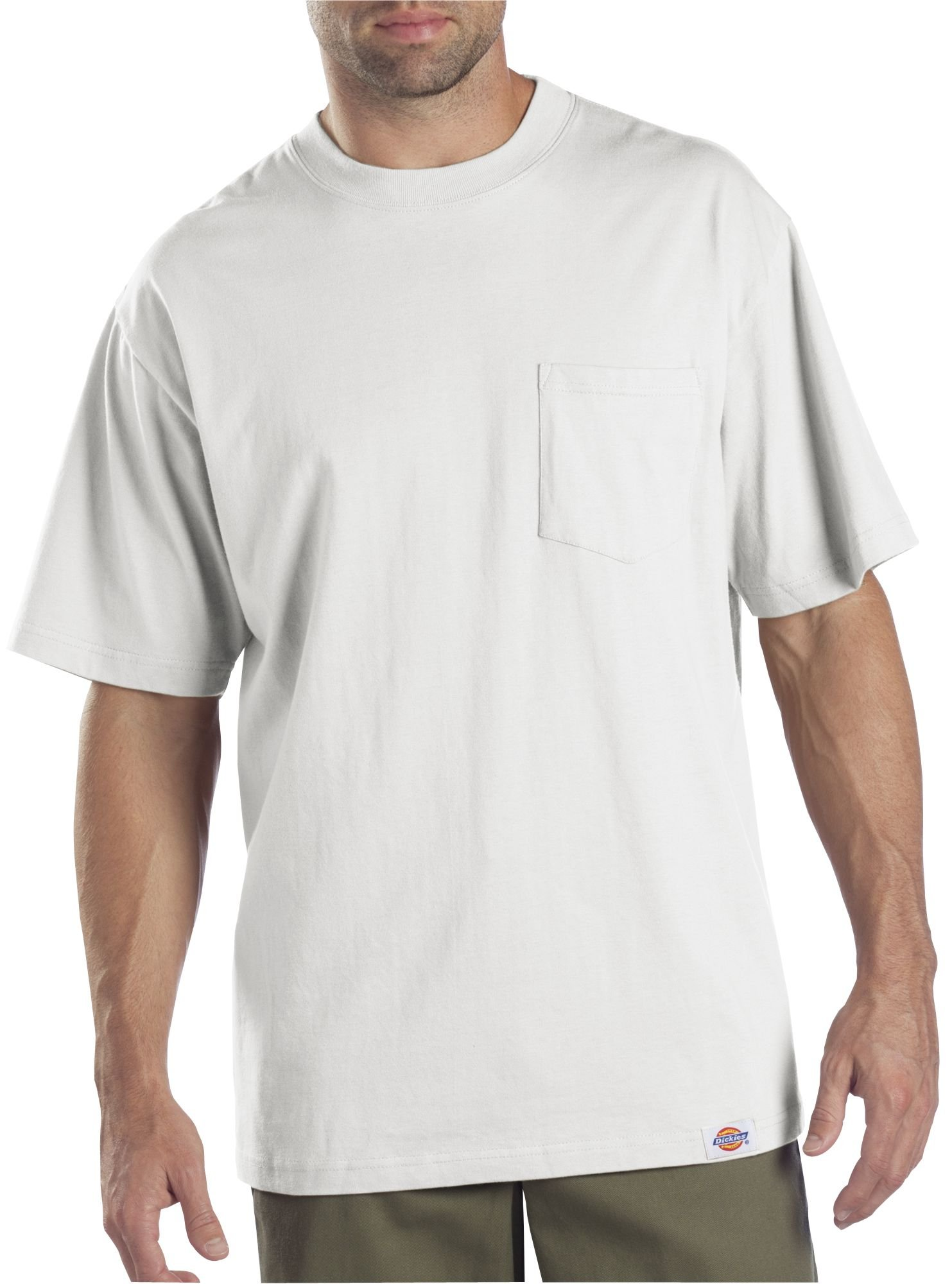Dickies Men's Short Sleeve Pocket T-Shirts Two-Pack, White, 4X