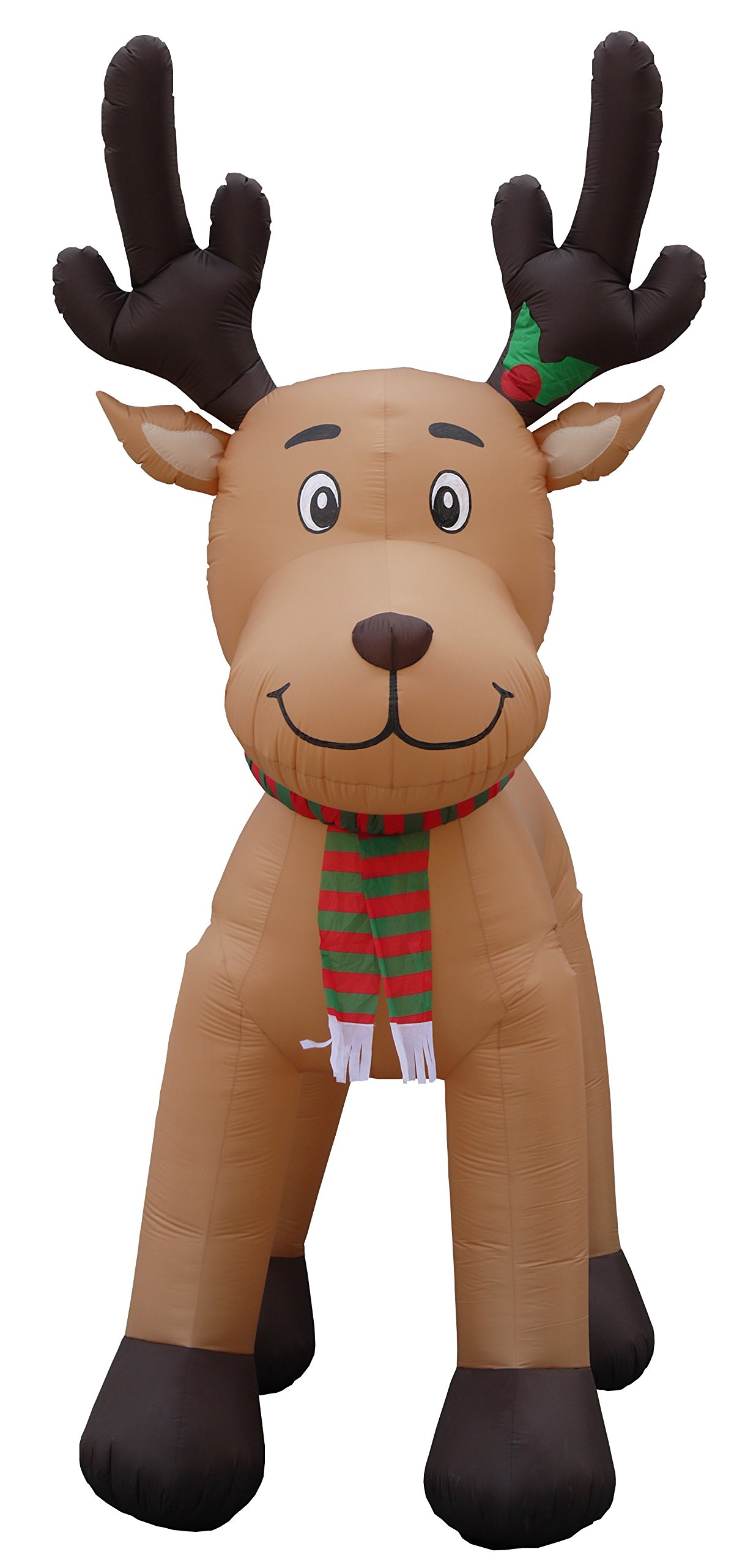 JUMBO 15 Foot Tall Christmas Inflatable Reindeer Outdoor Yard Decoration by BZB Goods (Image #2)