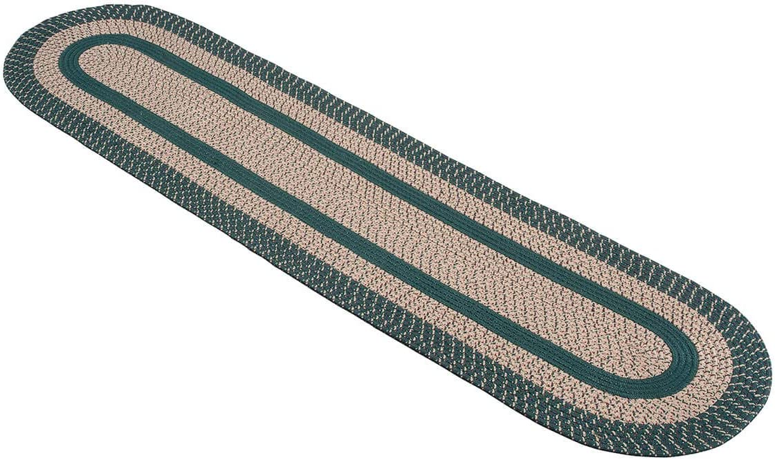 OakRidge Miles Kimball Two-Tone Classic Country Braided Rug, Multiple Size Options Tightly Woven Braids in Oval Rug of Durable Olefin Material, Same Color Design on Both Sides of Reversible Rug