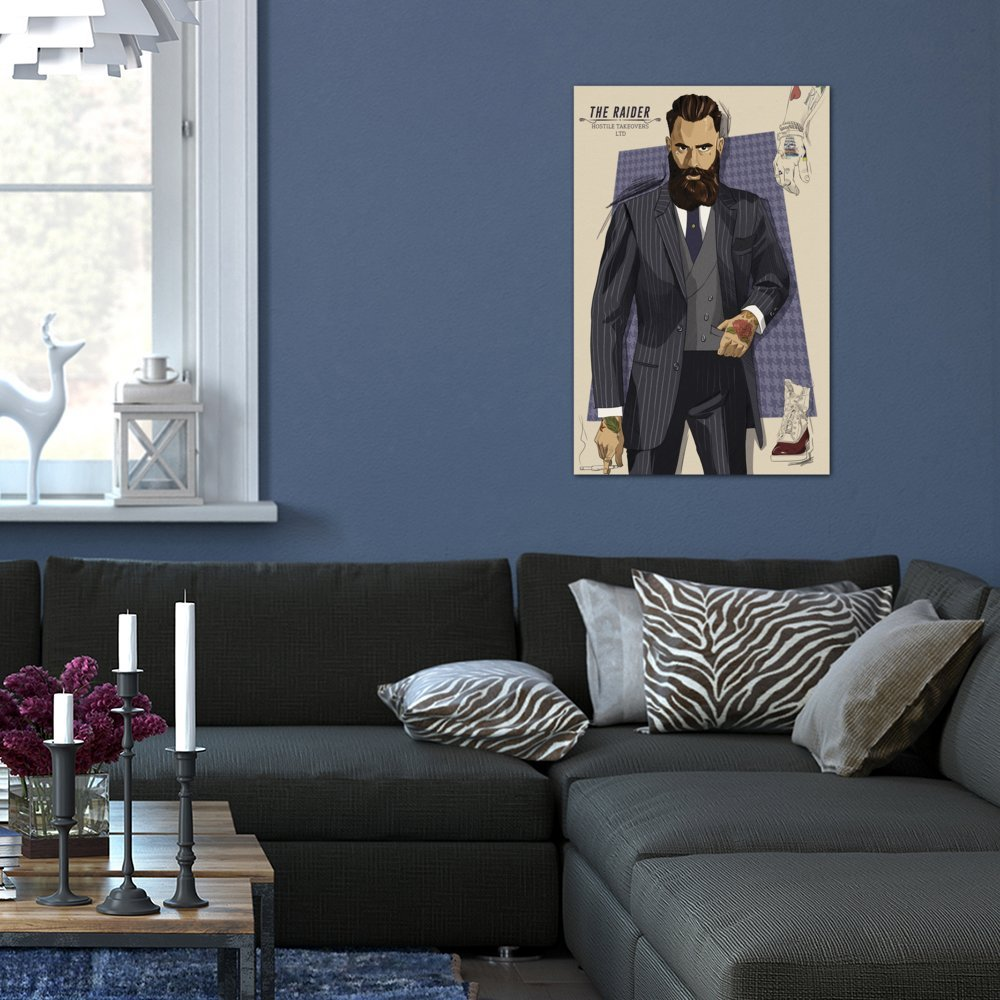 60 by 40//1.5 Deep iCanvasART 3 Piece The Raider Canvas Print by Darklord