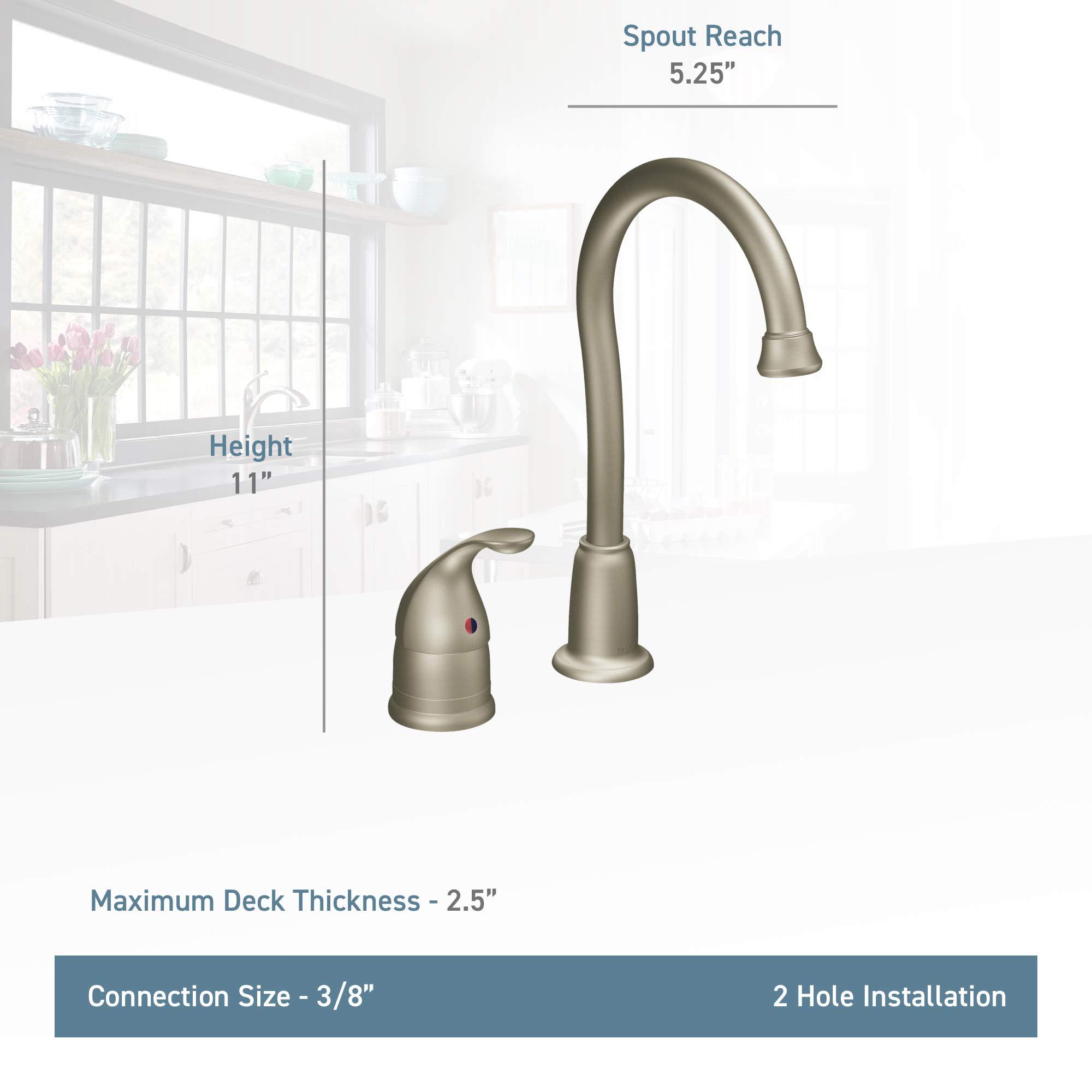 Moen 4905 Camerist One-Handle High Arc Bar Faucet, Chrome