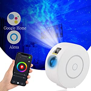 Laser Star Projector with Nebula,Alexa & Google Home Compatible APP/Voice Controlled Galaxy Night Light Projector for Bedroom/Bar/Party/Home Theatre/Music Hall