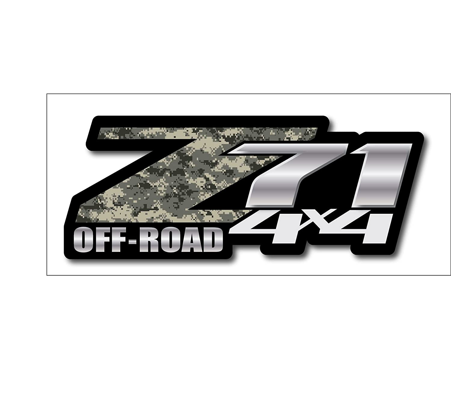 Amazon com army camo chevy z71 4x4 decals set of two gmc off road sports outdoors