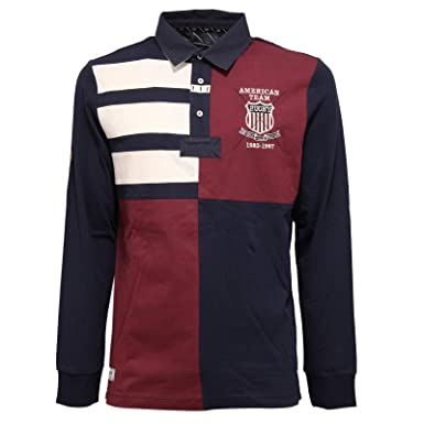 Beverly Hills Polo Club 4368K Polo uomo Blue/Bordeaux t-Shirt Man ...