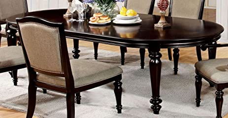 Furniture Of America CM3970T Harrington Oval Extendable Dining Table
