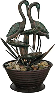 Foreside Home & Garden Crane Indoor Water Fountain with Pump