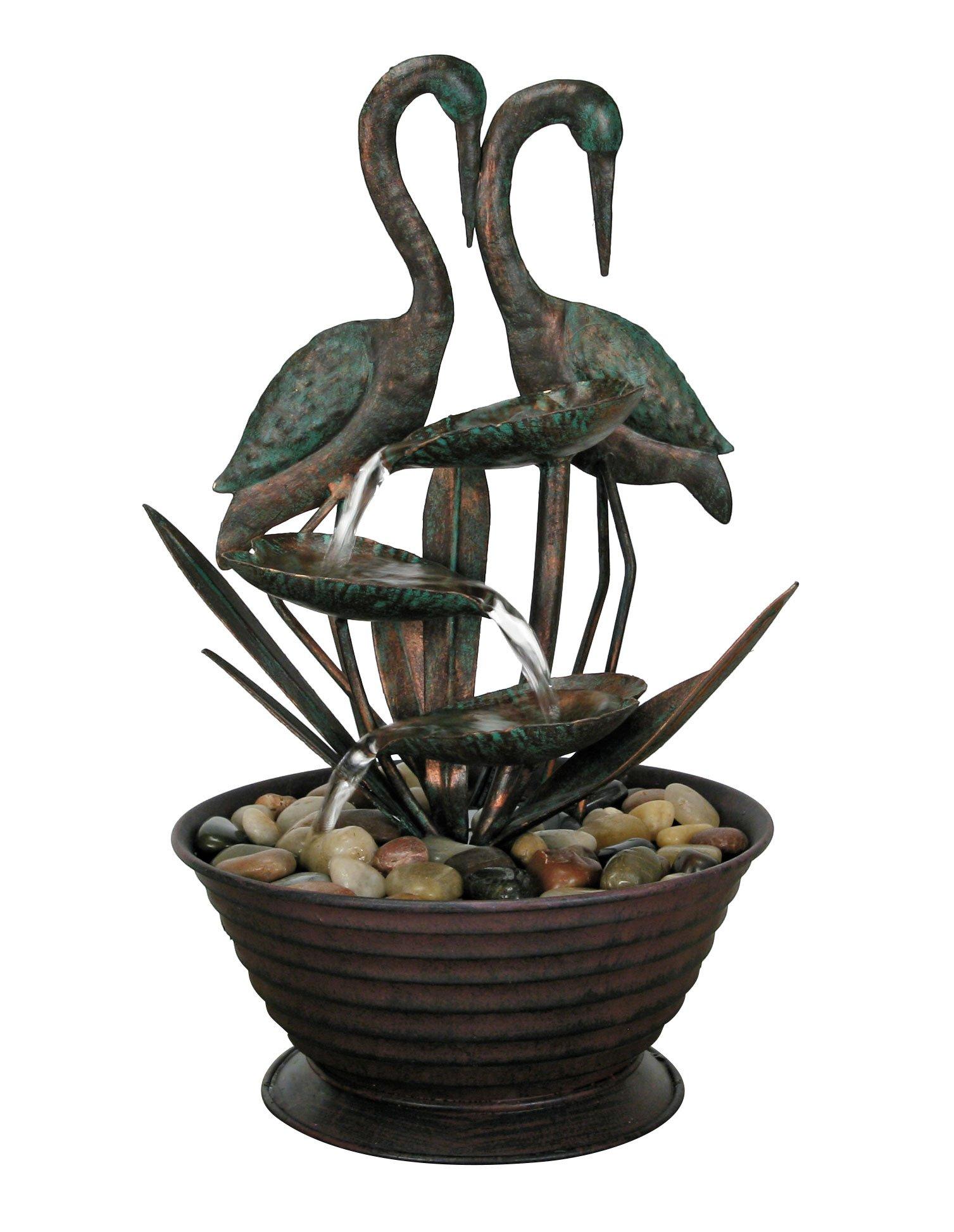 Nature's Garden Birds Metal Fountain