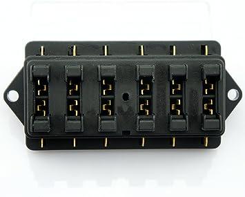 Universal Auto Kfz Pkw 6 Wege 40a Atu Standard Sicherungen Sicherungskasten Sicherungshalter Elektroverkabelung Auto