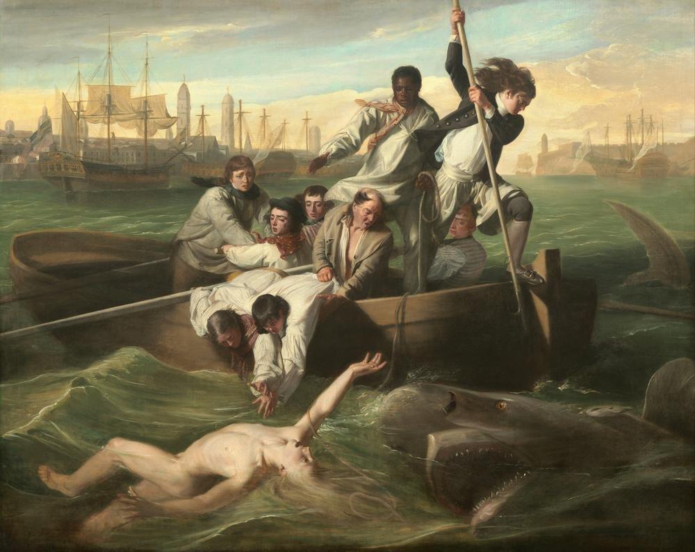 Classic Art Poster - Watson and the Shark by John Singleton Copley 30 X 24