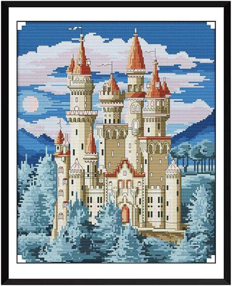 11CT Blaue Burge Motiv Bastelset Handarbeit zum Dekoration//Geschenke F Fityle Kreuzstich Stickerei DIY Handarbeit Stickpackung Set
