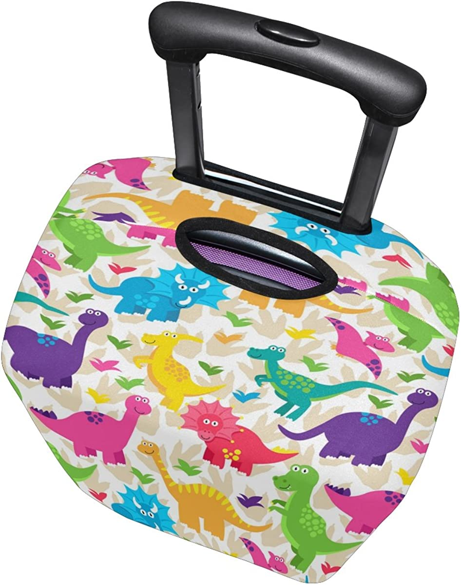 LAVOVO Colorful Dinosaur Luggage Cover Suitcase Protector Carry On Covers