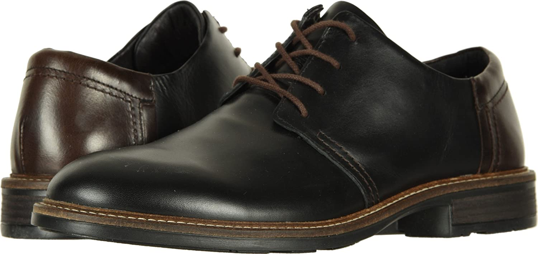 NAOT Footwear Women's Kirei Mary Jane Flat B079RJRQPZ 46 M EU Black Raven Leather/Walnut Leather