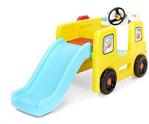 Little Tikes Little Baby Bum Wheels on The Bus Climber and Slide pastel blue and yelllow slide and bus themed step ladder