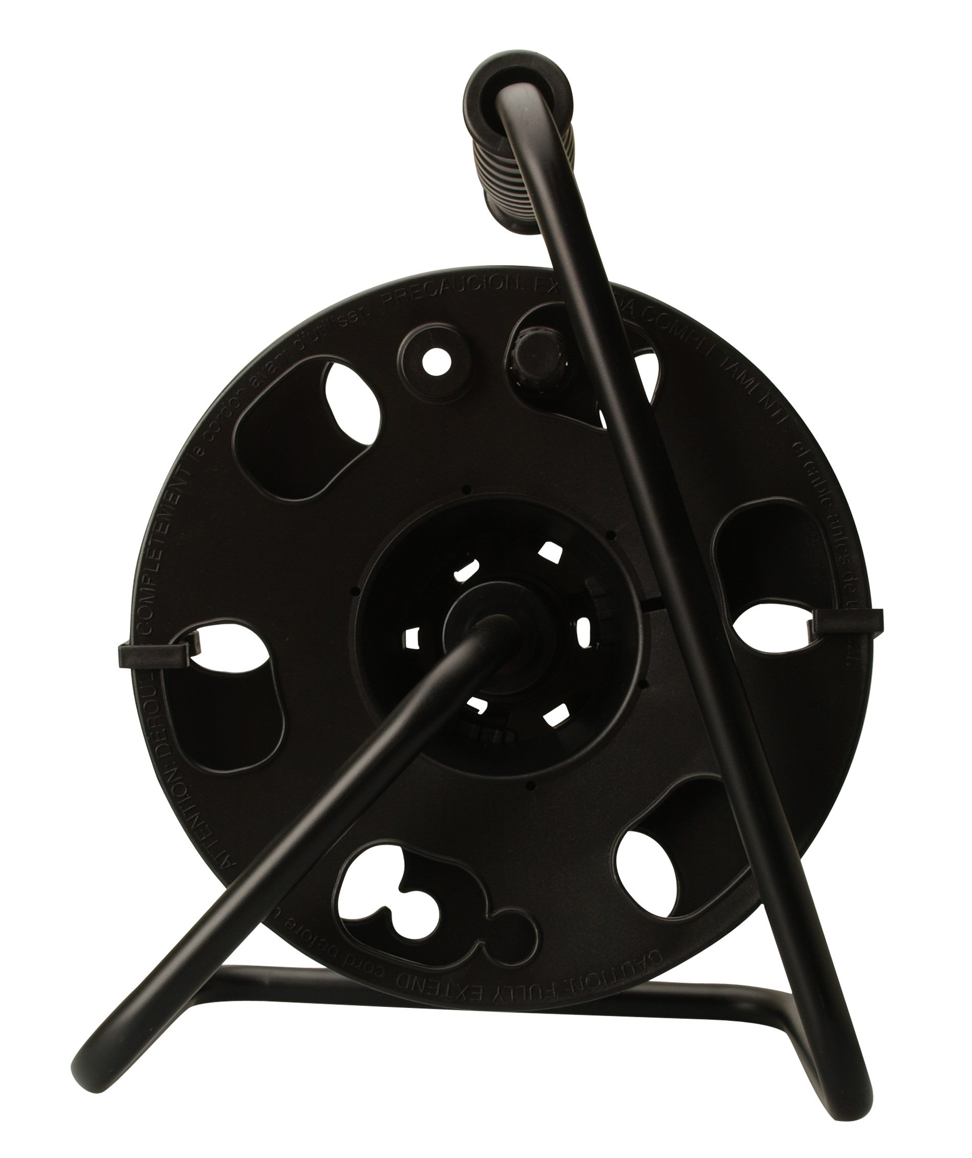 Woods 22849 Metal Cord Reel Stand In Black (Holds Up To 100 Feet 14/3 Gauge Cords)