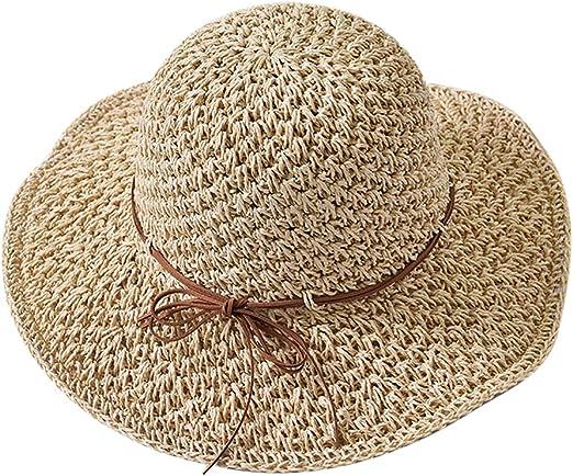 Httzhongchuang Damenhut beige Smiley Fischer Hut UV-Schutz im Freien UV-Schutz Strandreise Bucket Hut