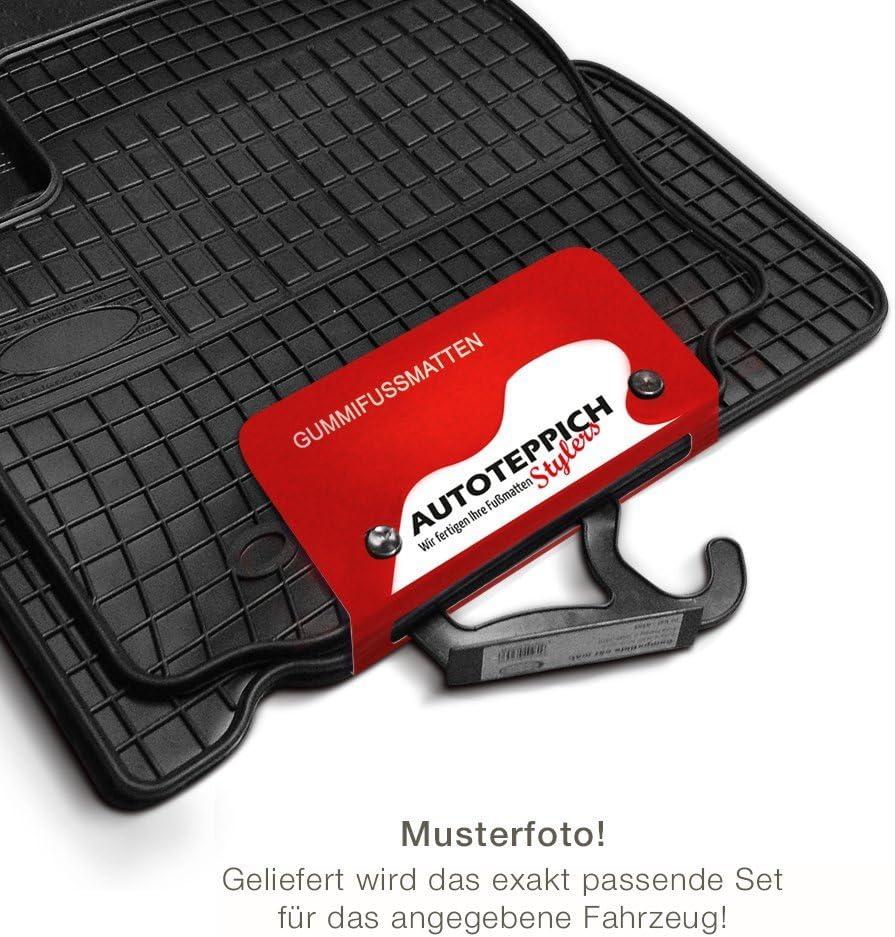 passgenau f/ür ATS/_Koffer/_Set/_98856 Kofferraumwanne Autoteppich Stylers Gummimatten Set
