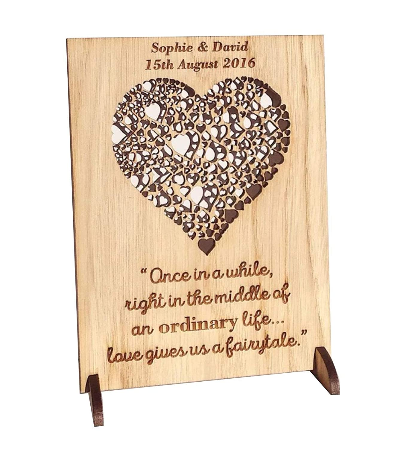Wedding Gift Personalised Wooden Plaque Anniversary Gifts For 1st