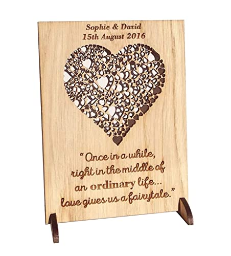 Wedding Gift Personalised Wooden Plaque Anniversary Gifts For 1st 2nd 3rd 4th 5th 6th 7th