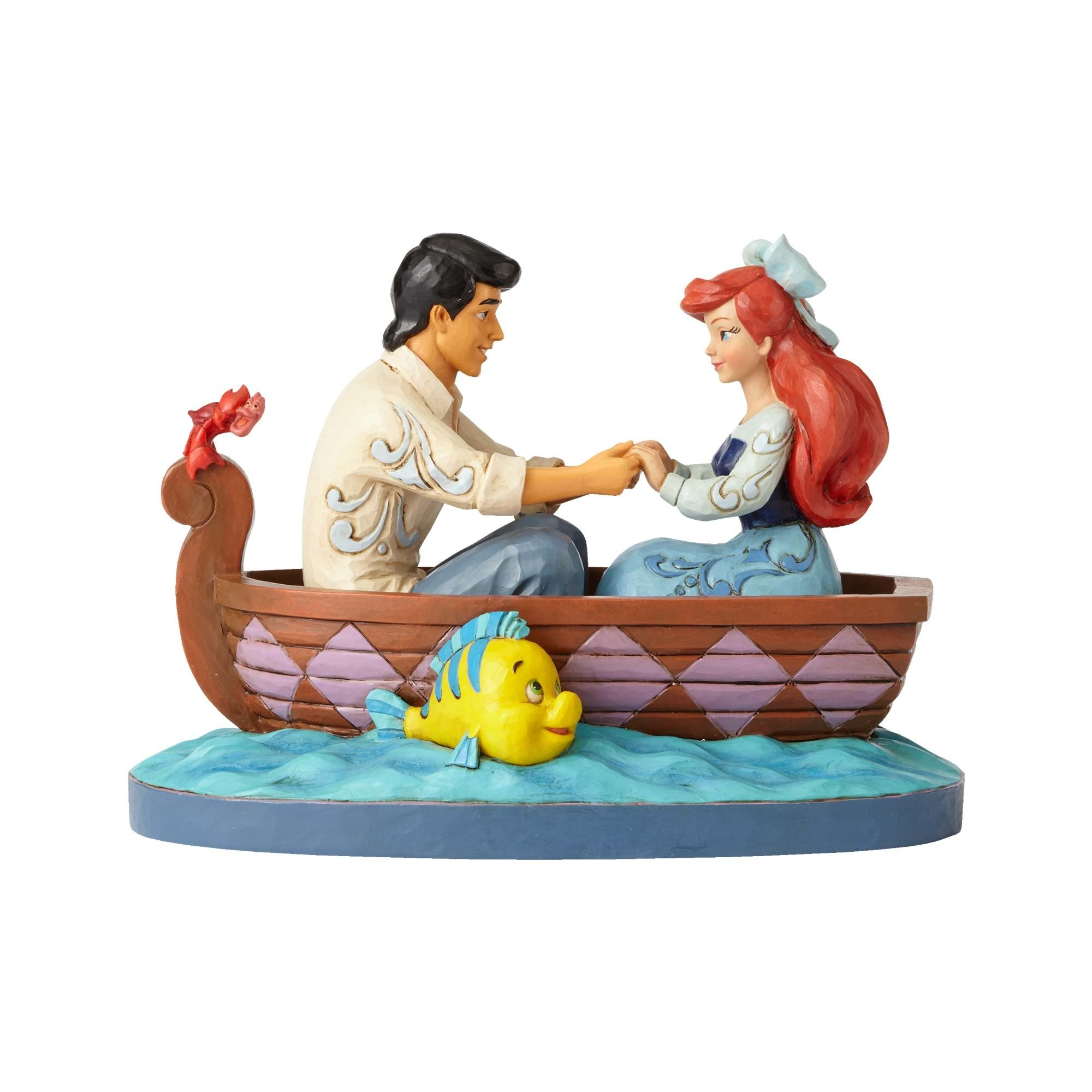 Enesco Jim Shore Disney Traditions Ariel and Prince Eric in Rowboat Figurine by Enesco