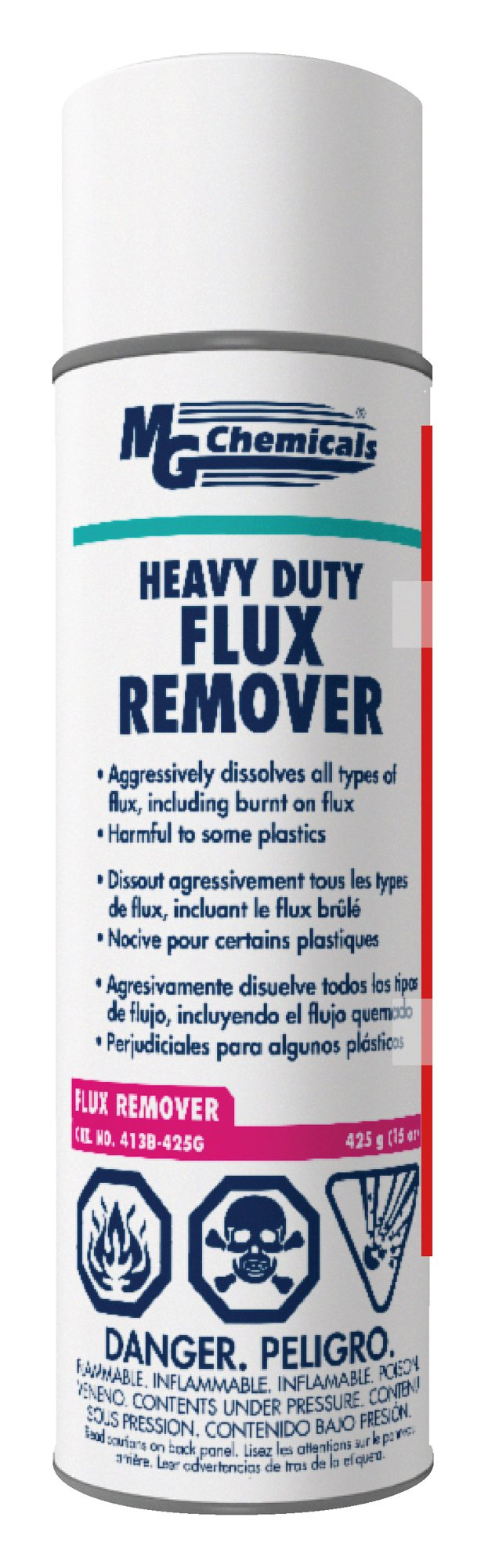 MG Chemicals 413B Heavy Duty Flux Remover, 425g (15 oz) Aerosol Can
