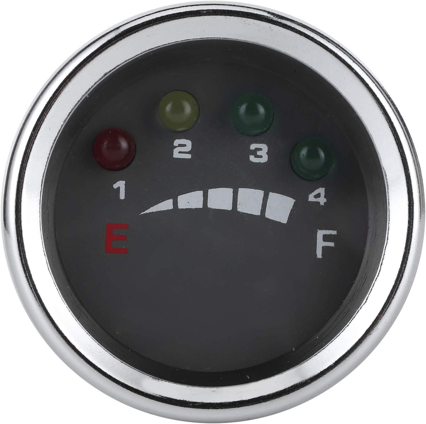 Medidor de batería Qiilu, pantalla indicadora de medidor de batería LED precisa para carretilla elevadora ATV de barco solar eléctrico(24V)