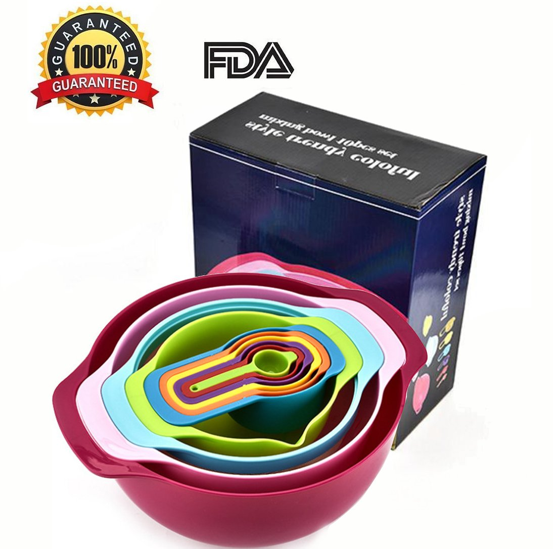 10 PCS Measuring Spoons and Measuring Bowl Set ,Measuring Cups