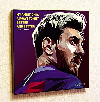 Lionel Messi #2 Soccer Football Fifa Barcelona Framed Poster Pop Art For  Decor With Motivational