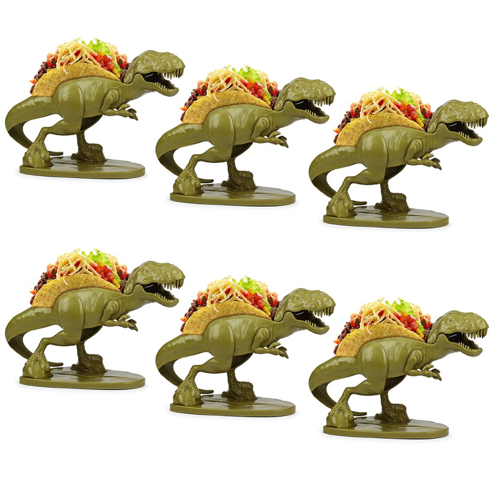 (Set/6) Tacosaurus Rex Double Taco Holder - Prehistoric Meal-time - ABS Free