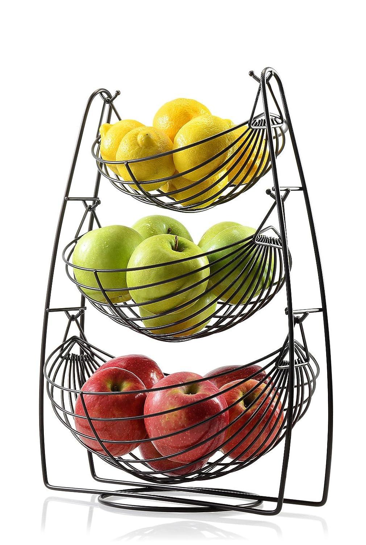 Saganizer Bronze 3 Tier Fruit Baskets Fruit Basket Sagler SYNCHKG117313