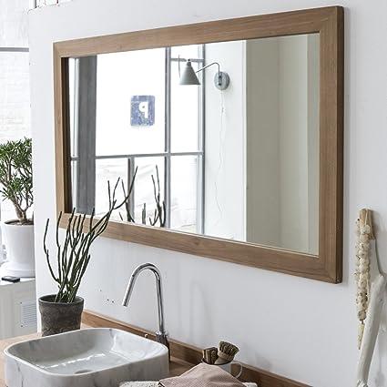 Tikamoon Milano Miroir Teck Beige 70 X 3 X 140 Cm