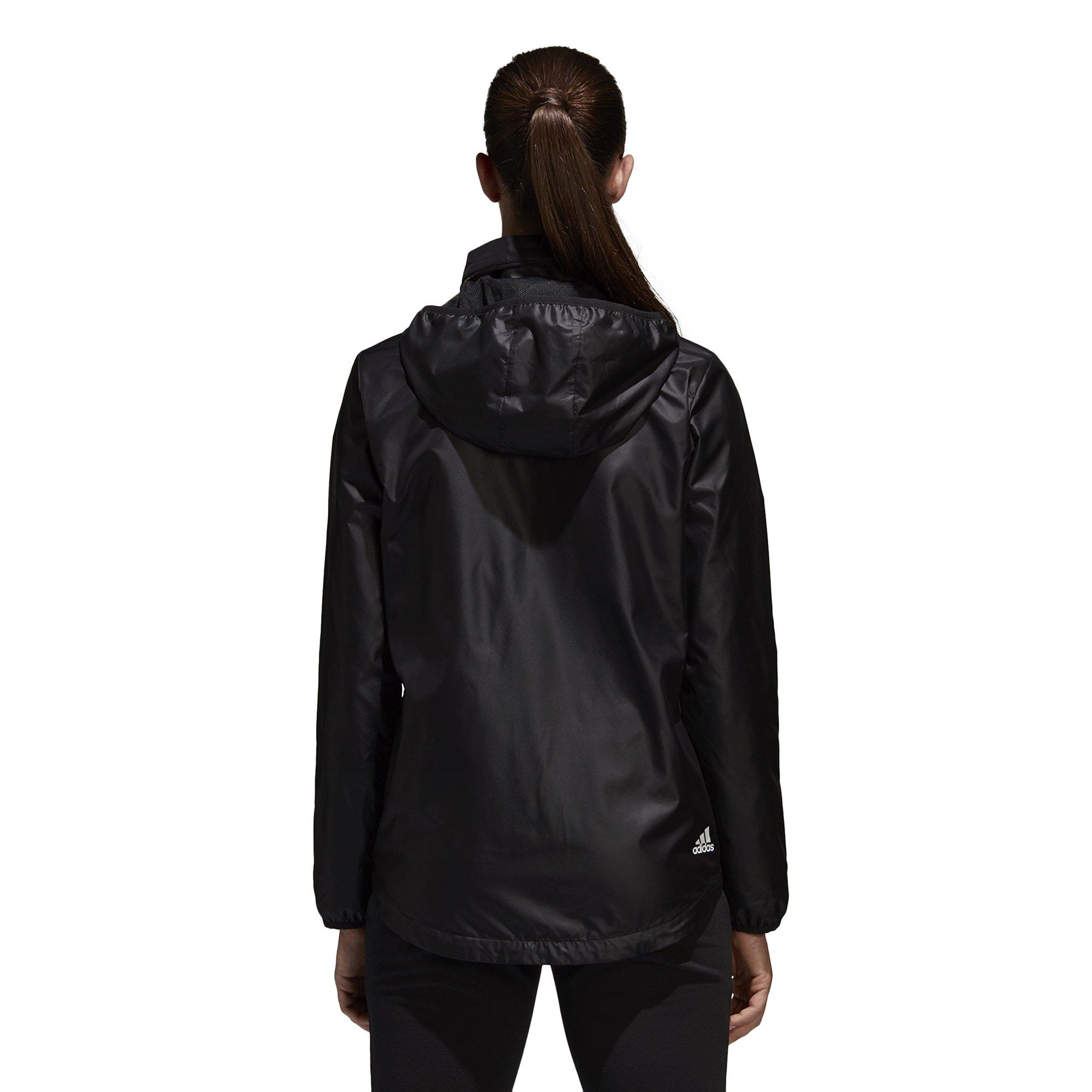 adidas Women's Linear Windbreaker Jacket, Black, Large by adidas (Image #6)