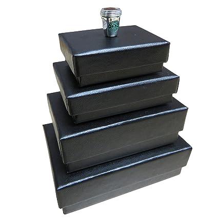 012122726 Silvadore - Pack of 10 Jewellery Cardboard Gift Box - Black - Cotton Fluff  Padding Lid - Handmade UK Jewelry & Wedding Favours (Medium x10):  Amazon.co.uk: ...