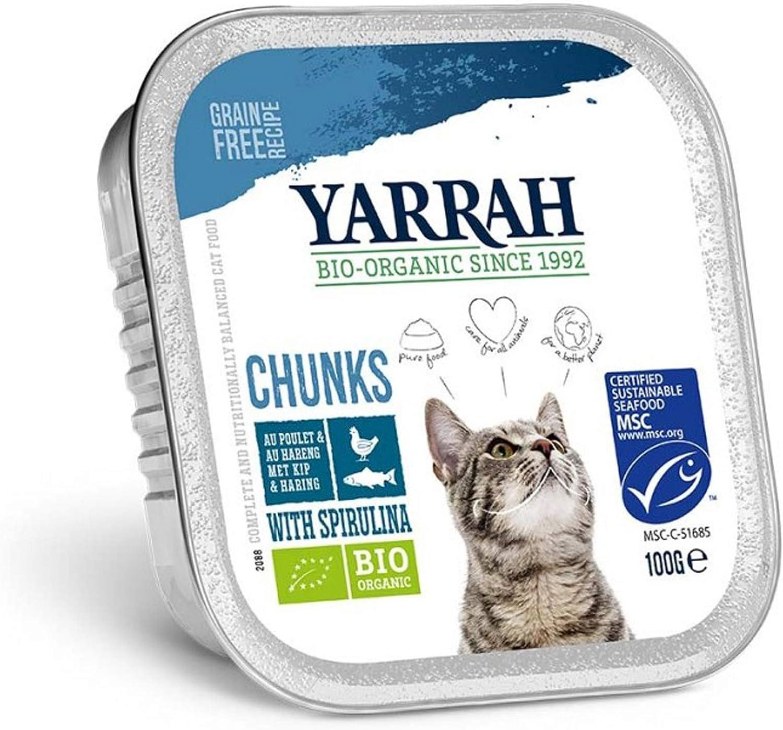 Yarrah Organic Cat Fish Chunks with Spirulina 100g