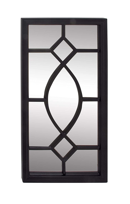 Black 44  x 22  Deco 79 84368 Wooden Wall Mirror 31  x 31  White