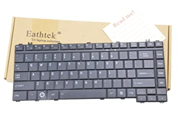 Eathtek Replacement Keyboard for Toshiba Satellite L455-S5981 L455-S5989 L455-SP5016M L455-S5975 L455-S5980 L455D-S5976 L455-S5000 L455-S5008 L455-S5009 Series Black US Layout