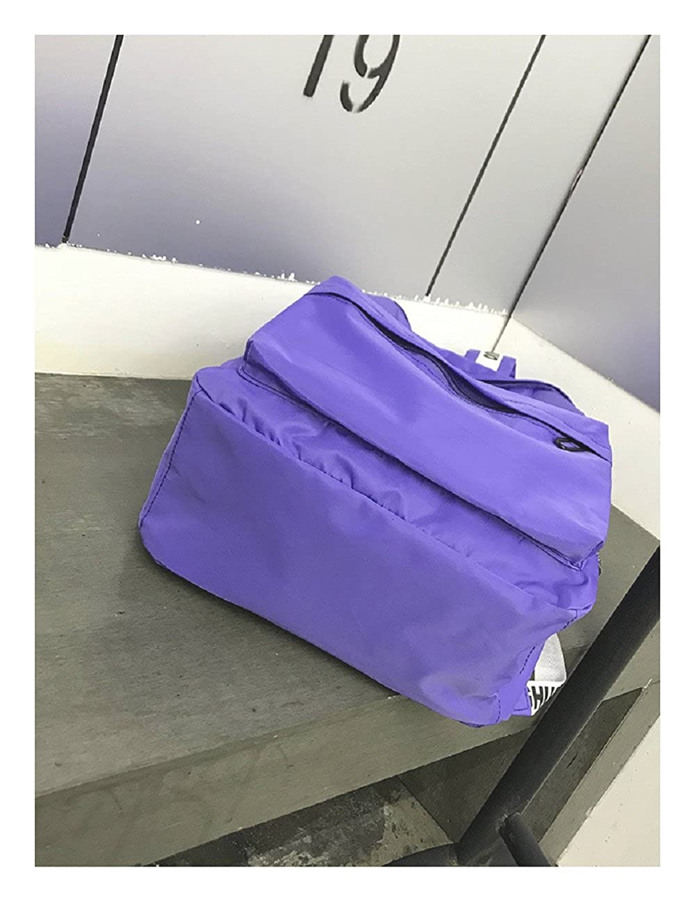 K.X.S Birthday Gift Womens Backpack Preppy Large Capacity Durable Solid Color Back Bag Color Purple